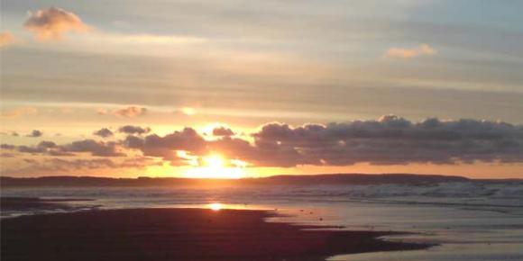 Sunset Over Goswick Sands